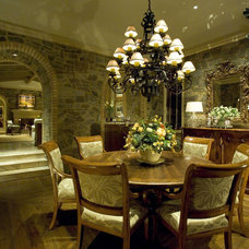 Mediterranean Dining Room by Romanza Interior Design