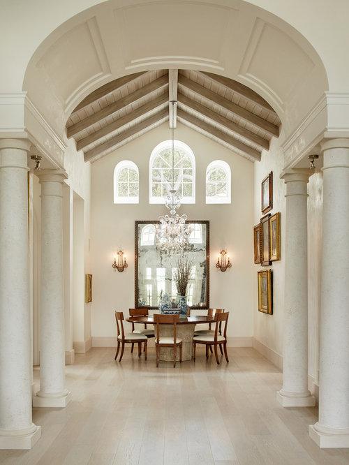 brick barrel vault ceiling dining room design ideas