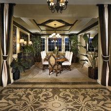 Mediterranean Dining Room by NewZeugma Custom Luxury Mosaics and Iznik Tiles