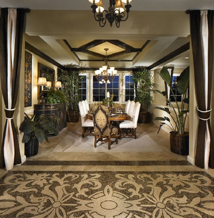 Mediterranean Dining Room by NewZeugma Custom Luxury Mosaics and Iznik Tiles