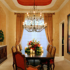 mediterranean dining room by Willetts Design & Associates