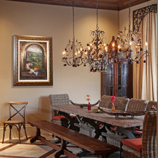 Mediterranean Dining Room by Weber Design Group, Inc.