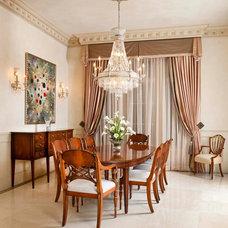 Mediterranean Dining Room by AVID Associates LLC