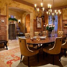 Mediterranean Dining Room by Giffin & Crane General Contractors, Inc.