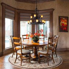 Mediterranean Dining Room by Wesley-Wayne Interiors, LLC