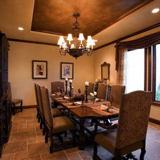 Mediterranean Dining Room by Russell Eppright Custom Homes