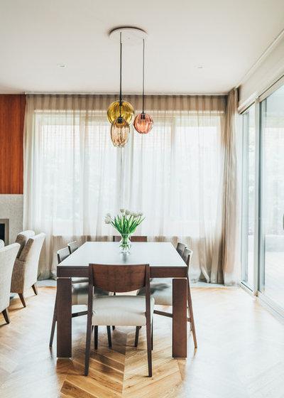 Contemporary Dining Room by Studio Ezra