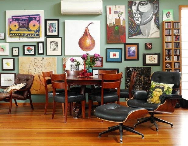 Eclectic Dining Room by Kate Hansen Photography