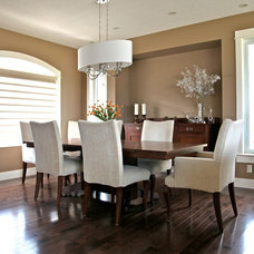 Contemporary Dining Room by Canyonview Construction Ltd.