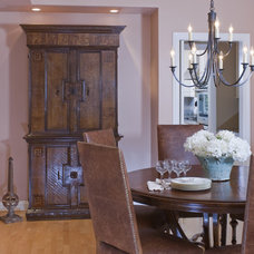 Farmhouse Dining Room by Erik Waldorf Interior Design