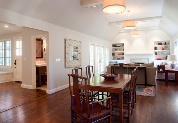 Transitional Dining Room by Justin Pauly Architects