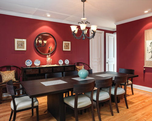 Raspberry truffle paint ideas pictures remodel and decor - Red dining room color ideas ...
