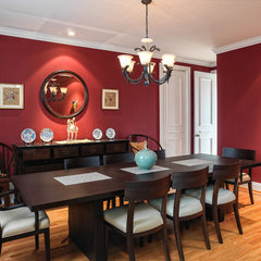 contemporary dining room by McKinney Photography