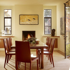 Transitional Dining Room by Moroso Construction