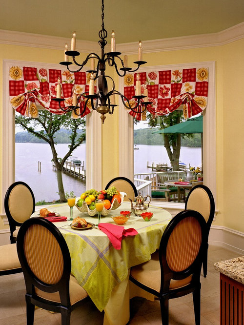 Dining Room Valance Ideas Part - 19: Traditional Dining Room Idea In Miami With Yellow Walls