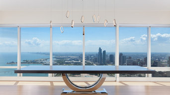 Metro Chrome - Dining Table - Chicago Skyline