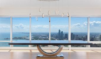Metro Chrome - Dining Table - Chicago Skyline