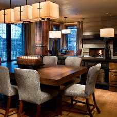 Contemporary Dining Room by Greenauer Design Group