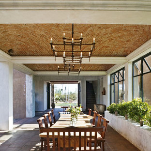 Inspiration for a southwestern dining room remodel in New York