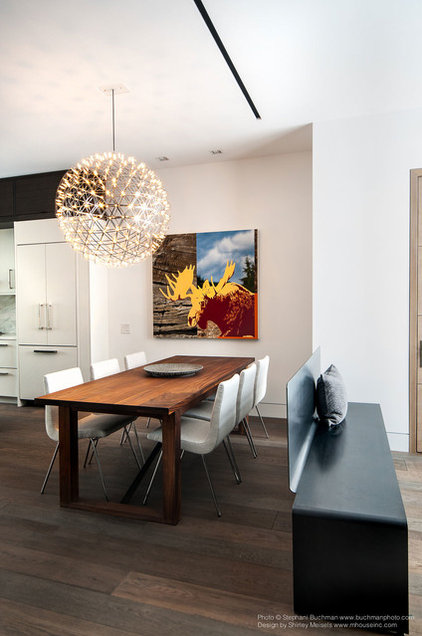 Midcentury Dining Room by Stephani Buchman Photography