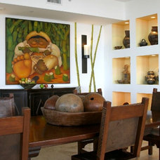 Eclectic Dining Room by Steed Hale Interior Design Company & Inc.