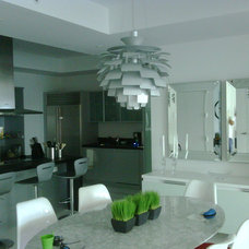 Contemporary Dining Room by MyLight Design