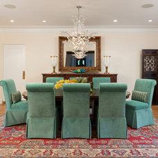 Mediterranean Dining Room by Margaux Interiors