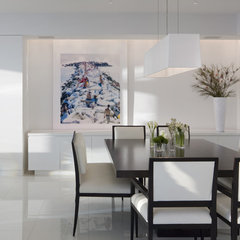 contemporary dining room by Bruce Bierman Design