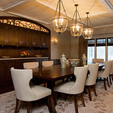 Eclectic Dining Room by Michael A. Menn
