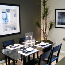 Contemporary Dining Room by Michelle Salz-Smith, ASID, CID @ Studio Surface