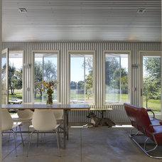 Farmhouse Dining Room by Wheeler Kearns Architects