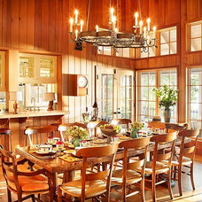Rustic Dining Room by Alan Design Studio