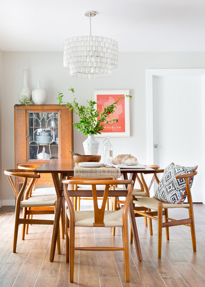 Midcentury Dining Room by Manhattan Home Design