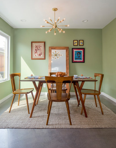 Midcentury Dining Room by Custom Design & Construction