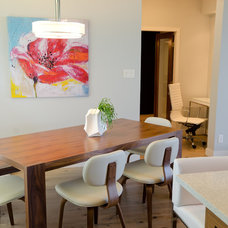 Midcentury Dining Room by Denise Mitchell Interiors