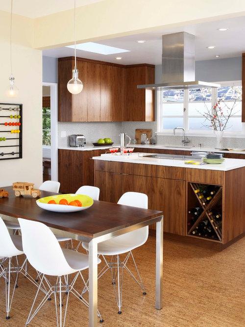 Wohnküchen Beispiele wohnküchen mit korkboden design ideen bilder beispiele