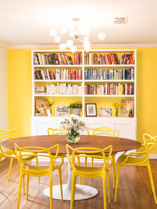 Top 20 Dining Room with Yellow Walls Ideas & Remodeling Pictures | Houzz