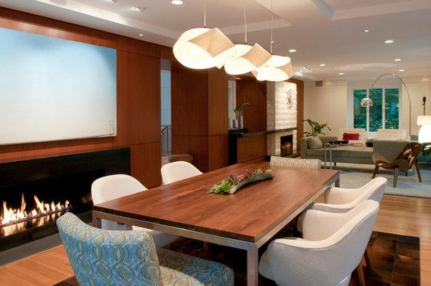 Midcentury Dining Room by Ikaria Living