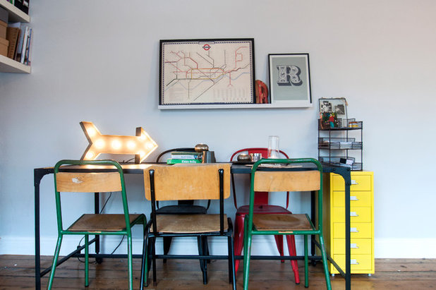 Midcentury Dining Room by Amelia Hallsworth Photography