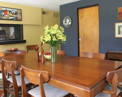 Blue grey yellow ideas pictures remodel and decor Blue and yellow dining room