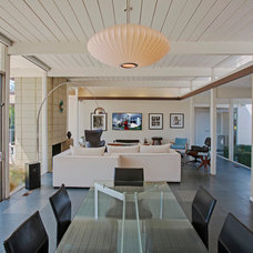 Midcentury Dining Room by Martin King Photography