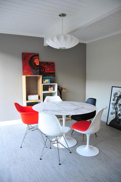 Midcentury Dining Room by Urbanism Designs