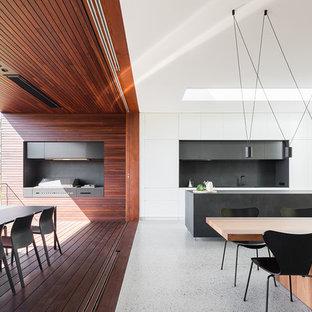 Contemporary dining room in Sydney.
