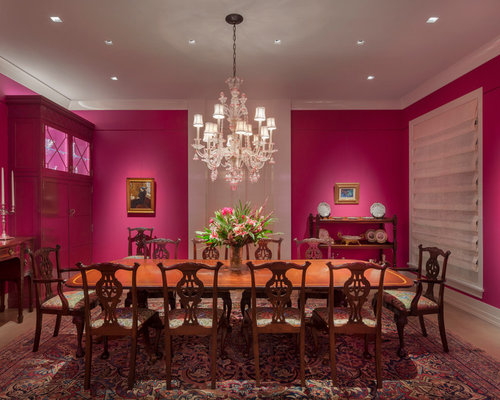 Traditional Pink Dining Room Design Ideas Renovations