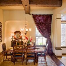 Mediterranean Dining Room by Sitterle Homes