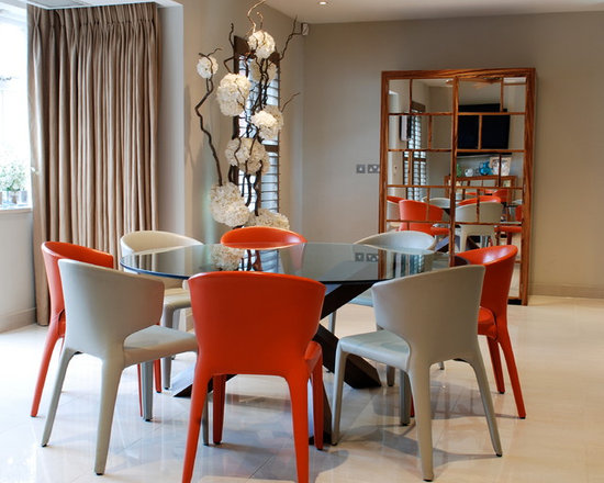 Chairs For Glass Dining Table glass dining table | houzz