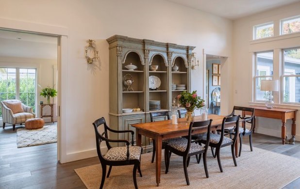 Traditional Dining Room by Michael Hospelt Photography