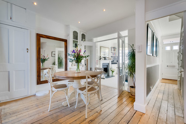 Transitional Dining Room by Marsh & Parsons