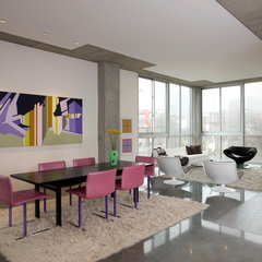 modern dining room by Poolehaus Residential Design