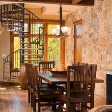 Rustic Dining Room by Kogan Builders